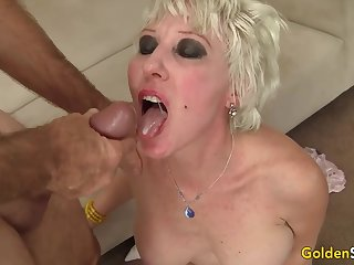 To a great extent Preserved Grandma Dalny Marga Blows a Boner Before Getting Fucked