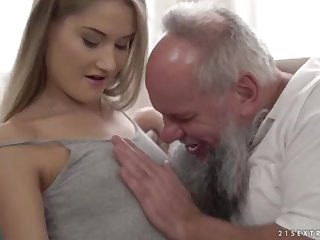 Nubile ultra-cutie vs older grandfather - Tiffany Tatum with an increment of Albert