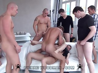 Youthfull Russian Wanton Gets Group-Fucked Overwrought Eight Wild Pervs