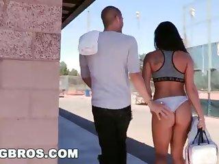 BANGBROS - Bystander Xander Corvus Screw Gianna Nicole Beside A Public Park!