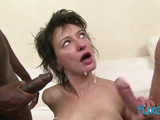 Zazala Coquine interracial anal triad