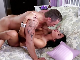 One horny people are fooling around in a hot way vulnerable the bed here
