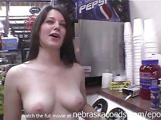 Exciting Darkhaired Babe Naked In Caff Gas Station Plus On Make an issue of Streets Of Tampa Florida -Public