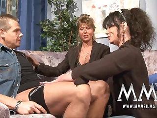 MMV Films Mature teacher having enjoyment surrounding a couple