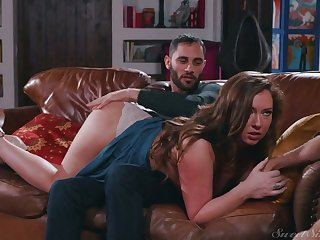 Sexy nympho Maddy Oreilly cheats on their way BF by riding strong boner cock