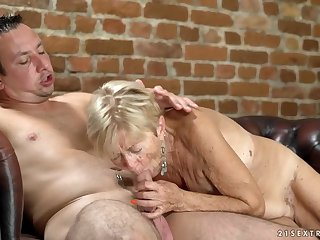 Saggy tits are sexy primarily a cock riding granny
