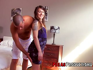 Riding and sucking fat prick bring delight to bootyful nympho Vaneska Nikova
