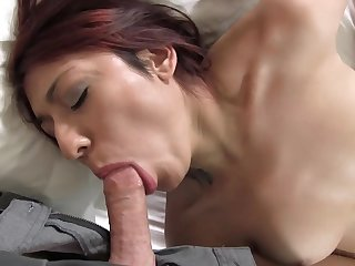 Low-spirited young newcomer Natalia gets cum covered in her first XXX scene