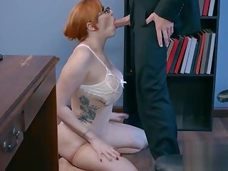 Office Sex Around Sluty Big Juggs Teen Girl (Lauren Phillips) vid-17