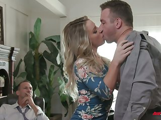 Kinky boss invites handsome employee to have sex naughty wife Kate Kennedy