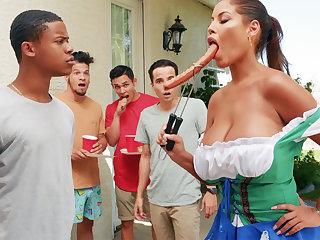 Hardest Oktoberfest group sex for drunk wed