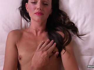 Hot brunette MILF hot porn video beside POV