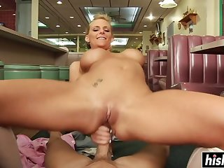 Exciting Full-Breasted Blond Whisker Girl Phoenix Marie Rides A  - mick blue
