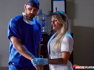 The doctor with a large cock penetrated abyss fro Kissa Sins