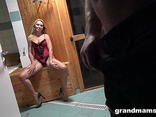 Young Alfonso is fucking good-looking aged woman in sexy lingerie